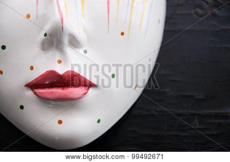 Porcelain Mask Close Up