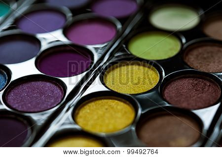Professional Eye Shadows Palette S. Makeup Background