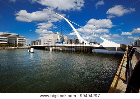 Samuel Beckett Bridge in Dublin City Centre