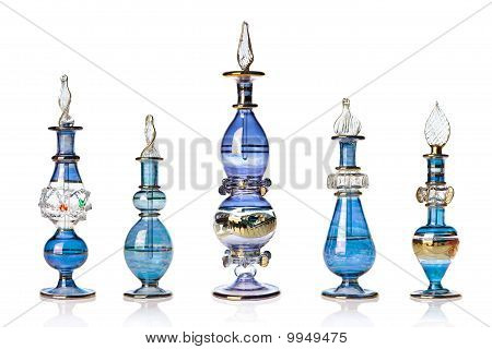 Blue Oriental Perfume Bottles