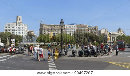 View Of Placa De Catalunya
