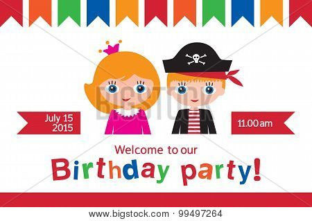 Invitation to a children's party.