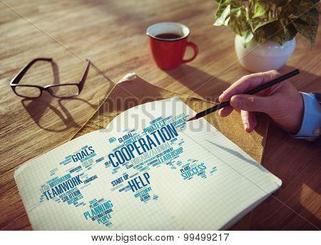 Cooreration Business Coworker Planning Teamwork Concept