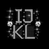 Постер, плакат: Цифровой Diamond алфавит новый