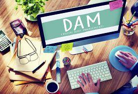 image of asset  - DAM Digital Asset Management Organization Concept - JPG