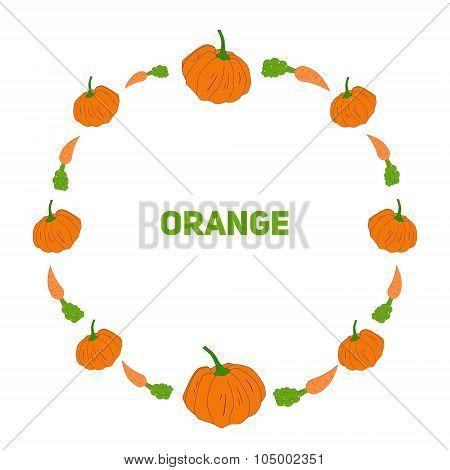 Pumpkin and carrot vector illustraion