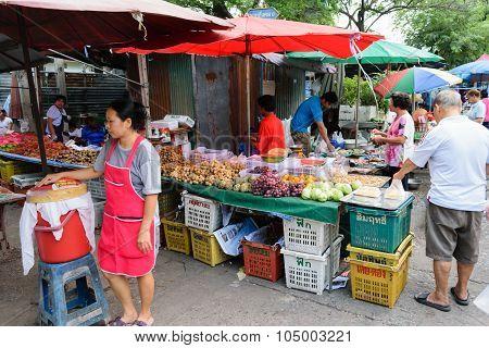 Thai Exotic Fruits In Market