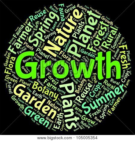 Growth Word Indicates Farming Cultivate And Cultivates