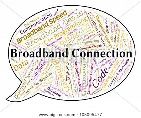 Broadband Connection Represents World Wide Web And Computing