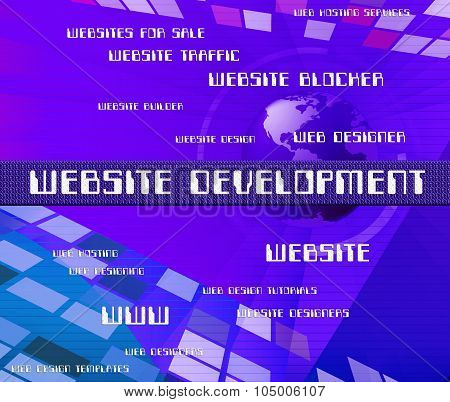 Website Development Represents Advance Sites And Domains