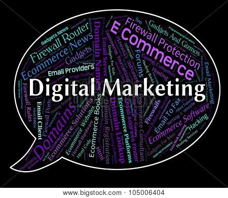 Digital Marketing Means Computer Sales And Promotions