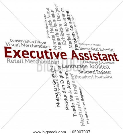 Executive Assistant Indicates Senior Manager And Aide