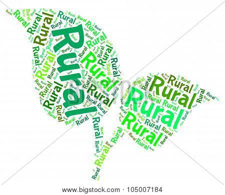 Rural Word Means Non Urban And Backwoods