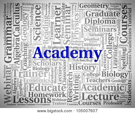 Academy Word Shows School Schools And Colleges