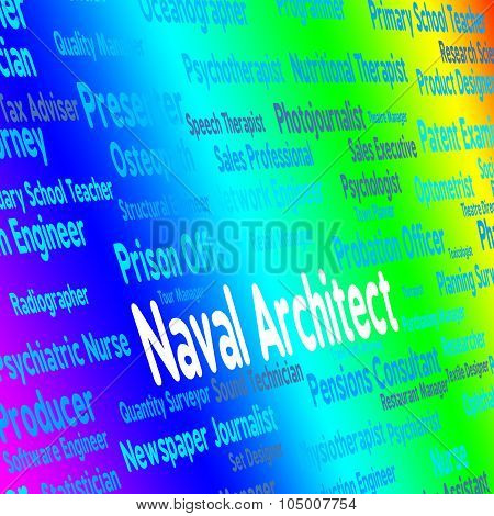 Naval Architect Indicates Building Consultant And Aquatic
