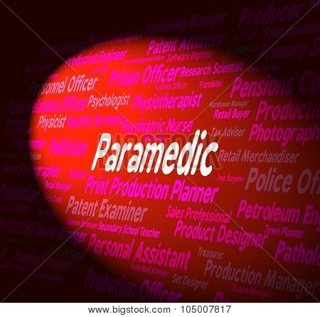 Paramedic Job Indicates Emergency Medical Technician And Md