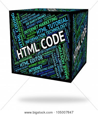 Html Code Means Hypertext Markup Language And Cipher