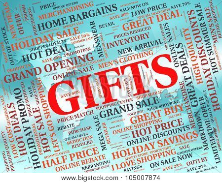 Gifts Word Indicates Giving Occasion And Text