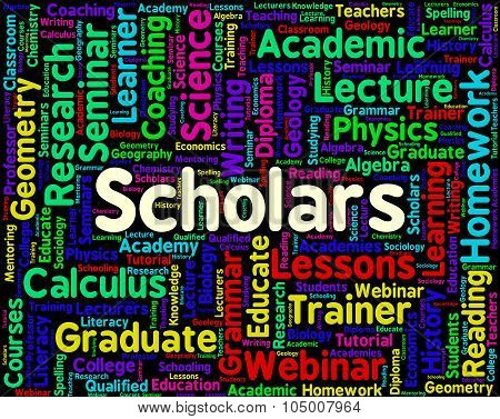 Scholars Word Shows Learned Persons And Academics
