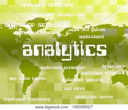 Analytics Word Indicates Collection Online And Report