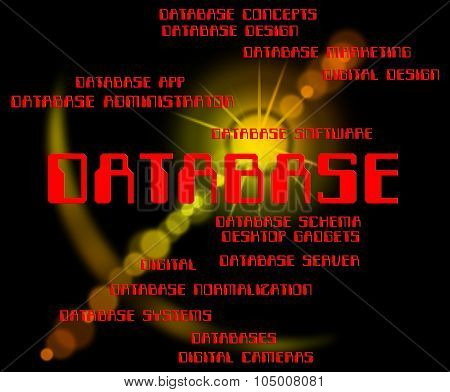 Database Word Means Words Text And Databases