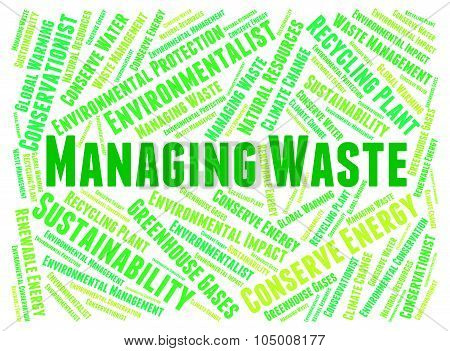 Managing Waste Indicates Words Word And Text