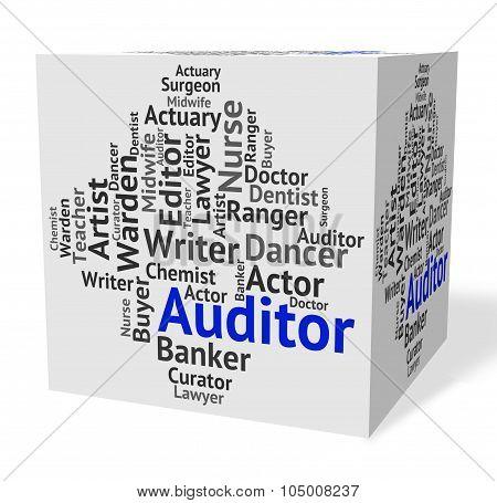 Auditor Job Represents Text Auditors And Inspectors