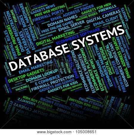 Database Systems Shows Network Computer And Technology