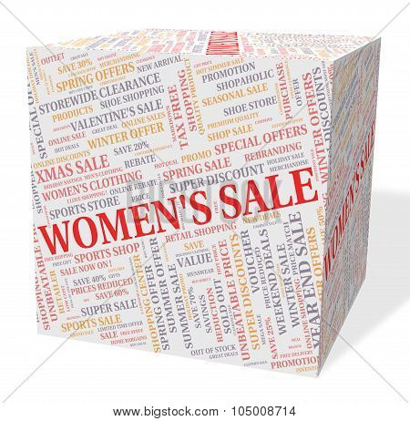 Women's Sale Shows Retail Promotion And Offers