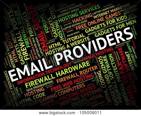 Email Providers Means Send Message And Communication