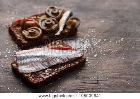 Open Sandwich Or Smorrebrod