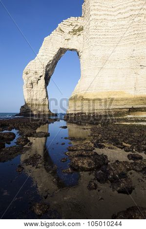 Vertical View Of Etretat Aval Cliff