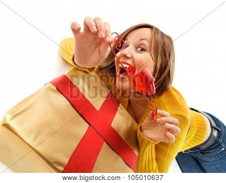 Opening Christmas Present