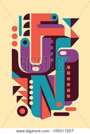 Retro poster with typography. Vector illustration.