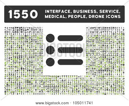 Items Icon And More Interface, Business, Tools, People, Medical, Awards Flat Glyph Icons