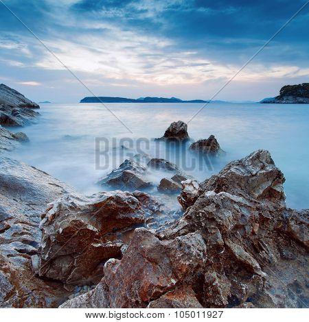 Beautiful seascape at sunset