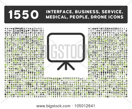 Presentation Screen Icon And More Interface, Business, Tools, People, Medical, Awards Flat Glyph Ico