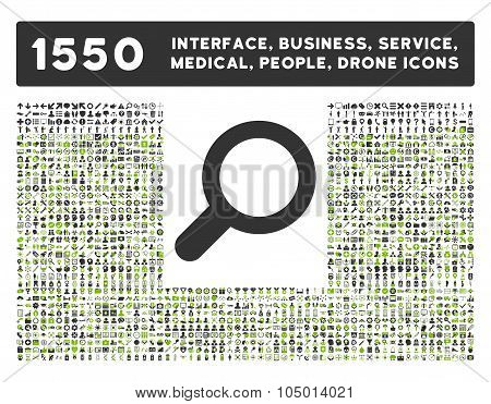 View Icon And More Interface, Business, Tools, People, Medical, Awards Flat Glyph Icon Collection