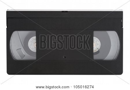 Old vhs video cassette Tape Isolated on white background