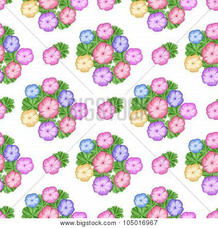 Seamless Pattern With Geraniums