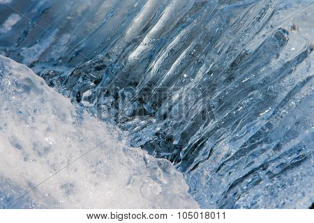 Beautiful Texture Of Ice