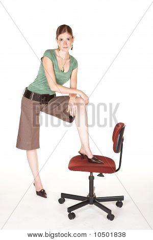 Tall Caucasian Businesswoman