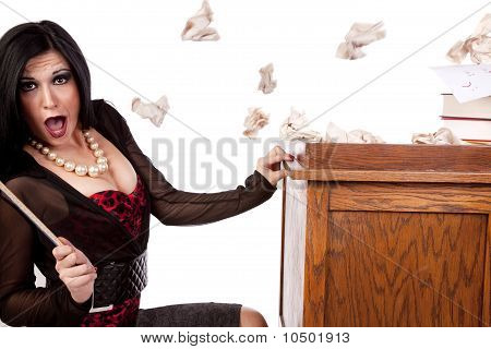 Teacher Hiding Paper Thrown