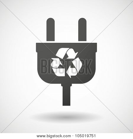 Isolated Plug Icon With A Recycle Sign