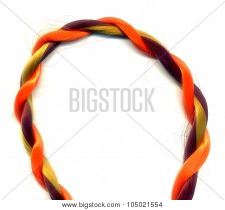Colorful Synthetic Hair Strands