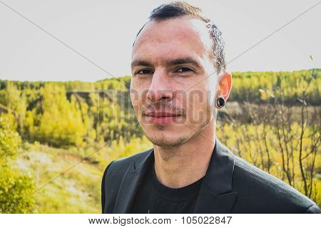 Man in blazer