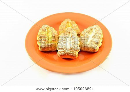 Isolated Image. Cookies In Powdered Sugar