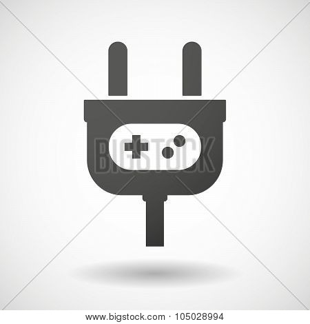 Isolated Plug Icon With A Game Pad