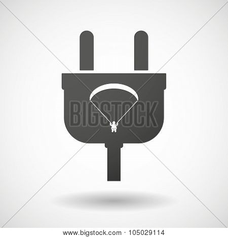 Isolated Plug Icon With A Paraglider