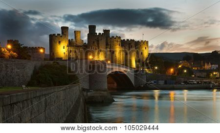 Dusk at Conwy Castle